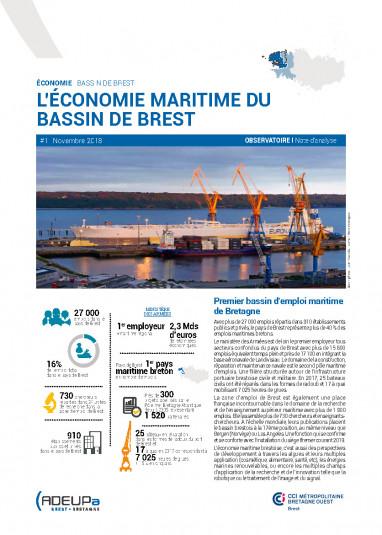 L'économie maritime du Bassin de Brest (Observatoire de l'économie - note d'analyse)