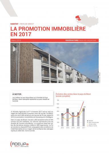 La promotion immobilière en 2017 dans le pays de Brest