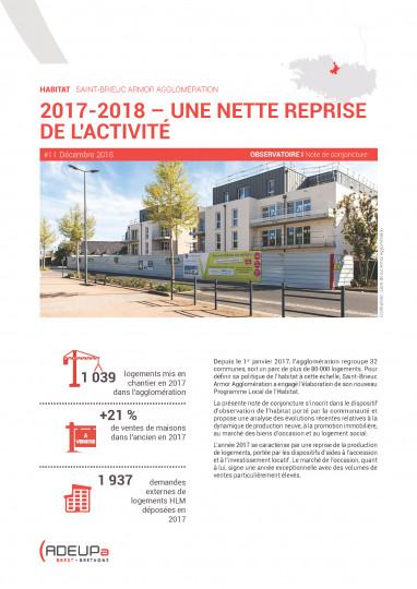 Habitat à Saint-Brieuc Armor agglomération : Une nette reprise de l'activité en 2017-2018