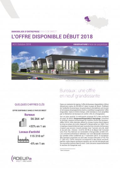 Immobilier d'entreprise - l'offre disponible début 2018
