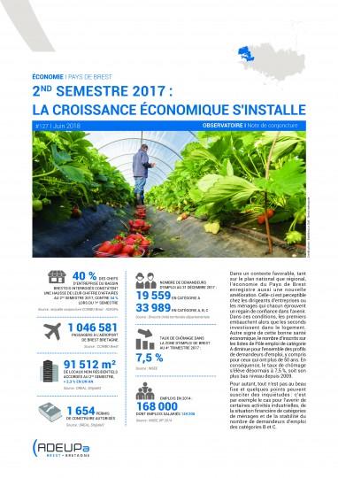 Second semestre 2017 : la croissance économique s'installe