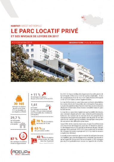 Brest métropole : le parc locatif privé et ses niveaux de loyers en 2017