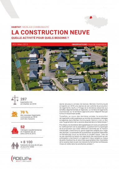 La construction neuve à Morlaix Communauté, quelle activité pour quels besoins ?