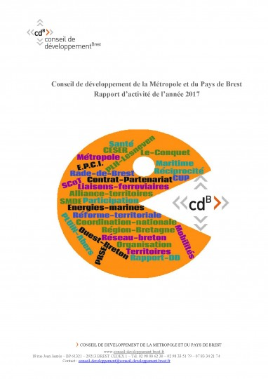 Rapport d'activités 2017 du Conseil de développement de la métropole et du pays de Brest