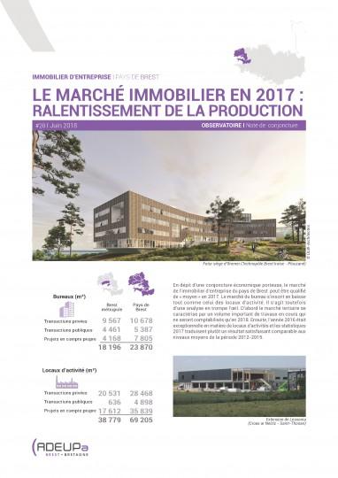 Ralentissement de la production dans le pays de Brest en 2017