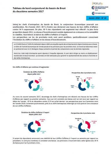 Tableau de bord conjoncturel du bassin de Brest du deuxième semestre 2017 - n°10