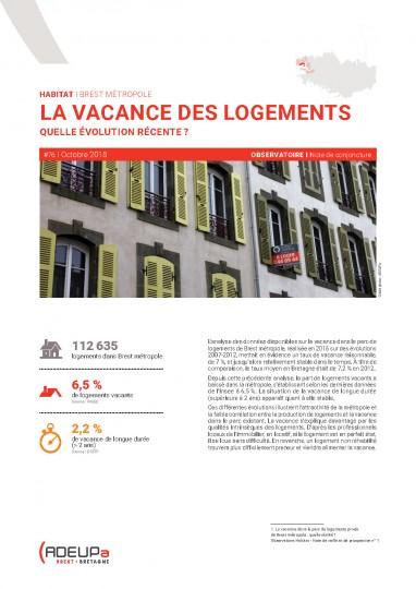 La vacance des logements : quelle évolution récente? (Brest métropole)