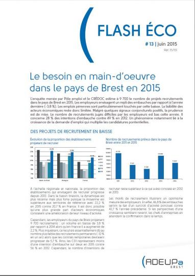 Flash Eco n°13 du pays de Brest